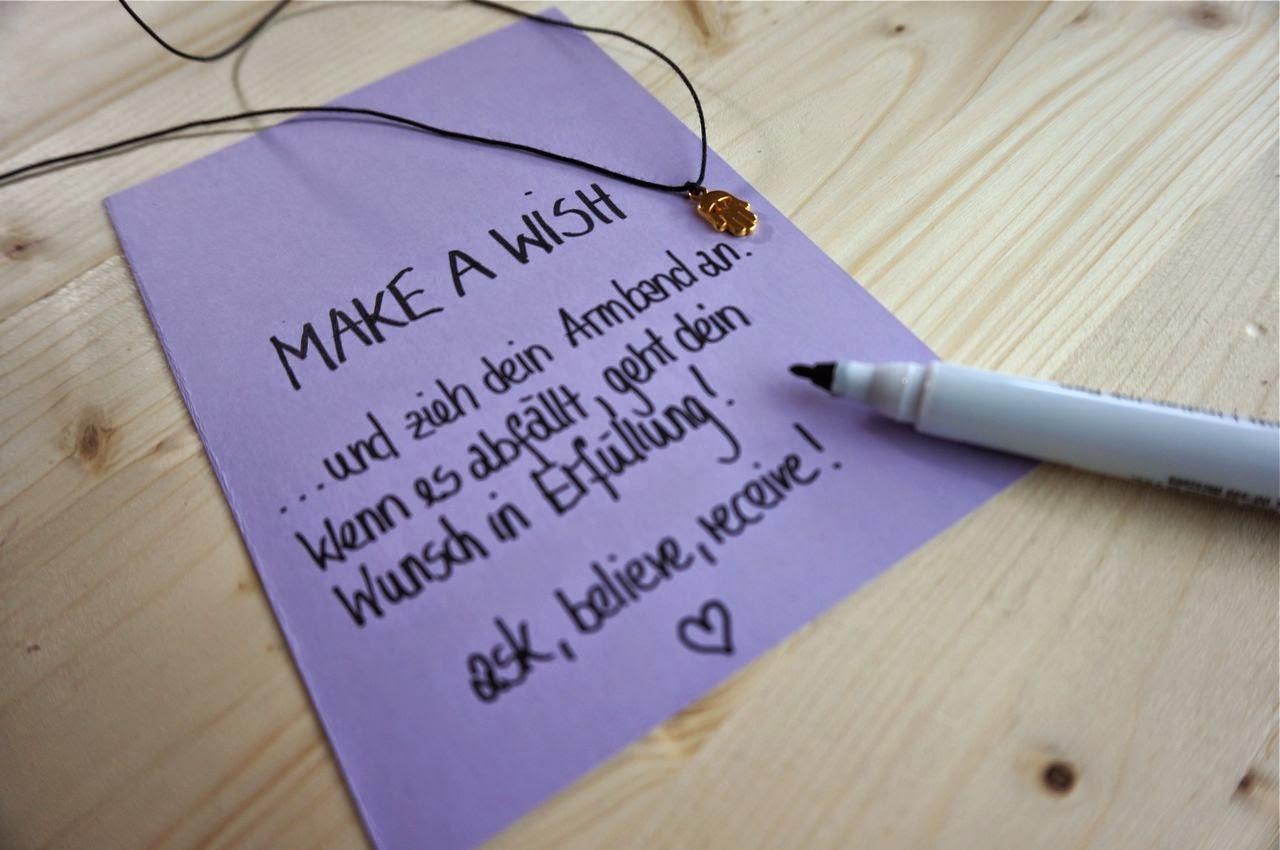 diy make a wish armband das perfekte geschenk diy das. Black Bedroom Furniture Sets. Home Design Ideas