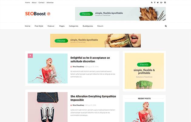 SEO BOOST Template Blogger Responsive & SEO