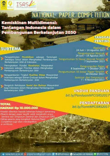 National Paper Competition ISRS 2017 di UI [Hadiah 10 Jt]