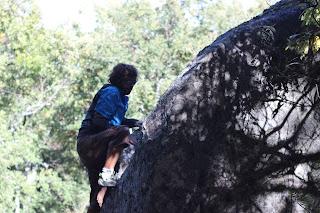 Boulder en la Dehesa de Candelario Sierra de Bejar Sector Mantra