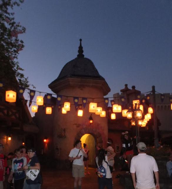 Magic Kingdom  Lanterns near Repunzals tower