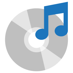 Preview of Compact disk icons, music icon