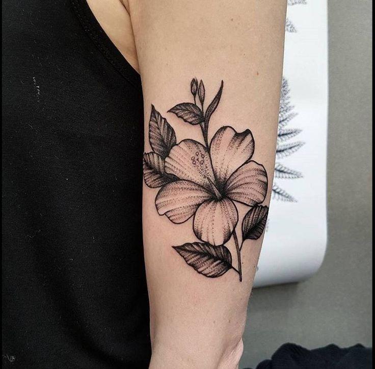 hawaiian flowers tattoos on arm wallpaper | Tattoos Design Wallpaper