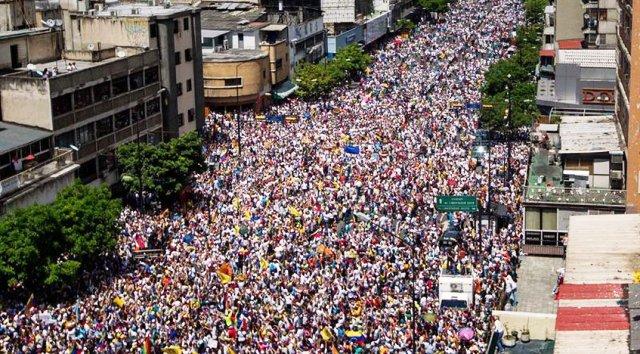 marcha de la oposicione n caracas el 1 de septiembre 2016