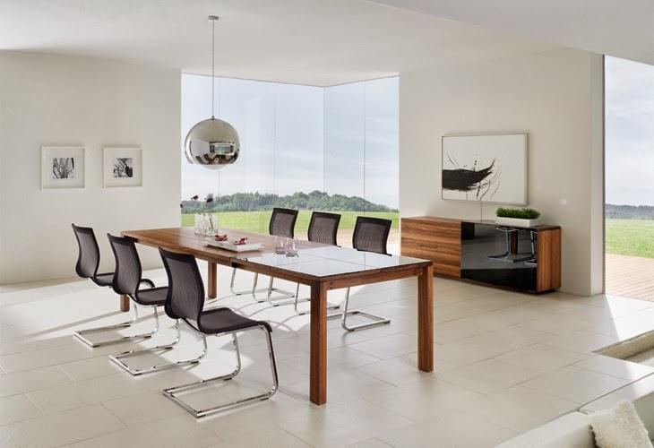 Casas minimalistas y modernas comedores modernos for Decoracion de comedores minimalistas