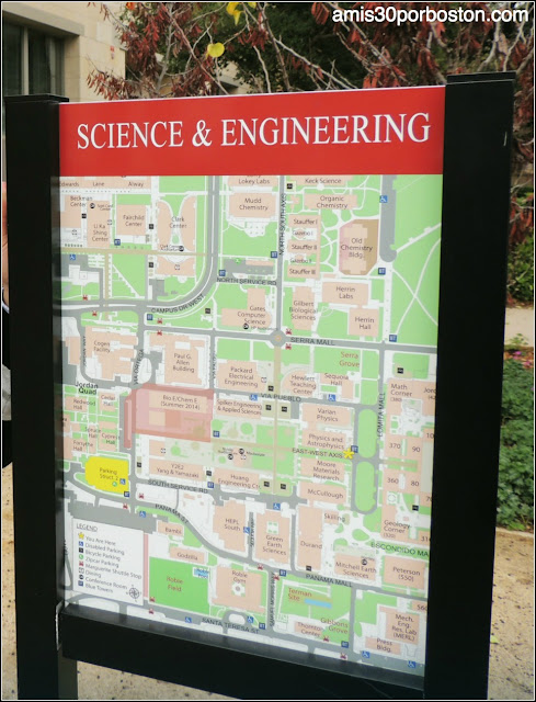 Mapa Science & Engineering Quad, Universidad de Stanford
