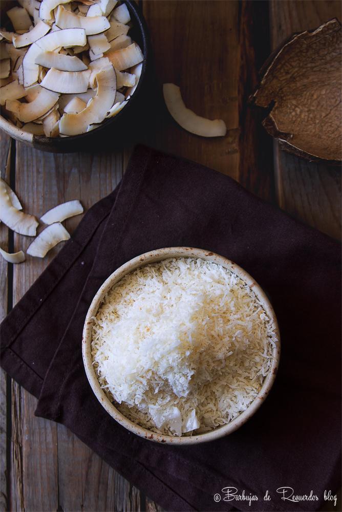 5 formas de procesar el COCO en casa: Coco Deshidratado