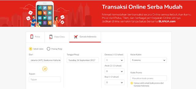 Beli Tiket Pesawat Garuda Semakin Mudah Melalui blanja.com