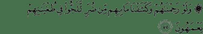Surat Al Mu'minun ayat 75