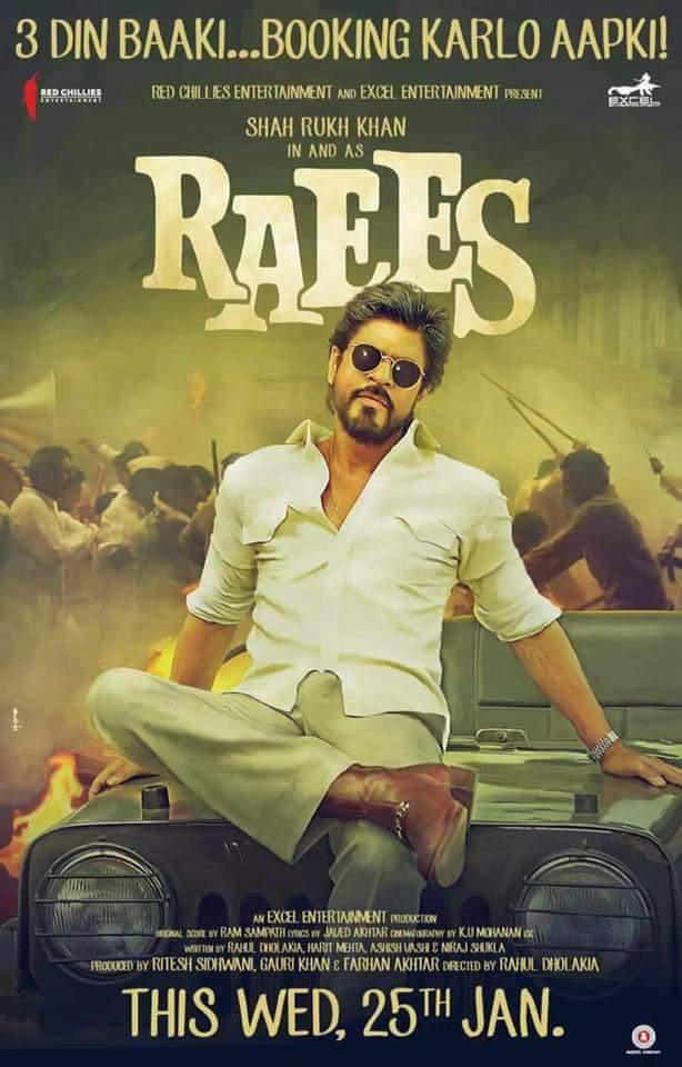 Raees 2017 Hindi Movie 400MB BluRay 480p