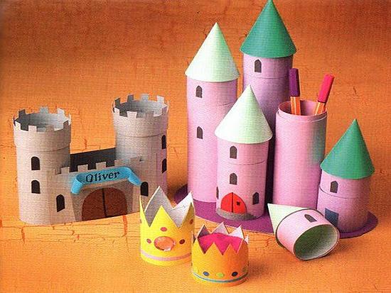 el rinc n del normalista castillo con tubos de cart n. Black Bedroom Furniture Sets. Home Design Ideas