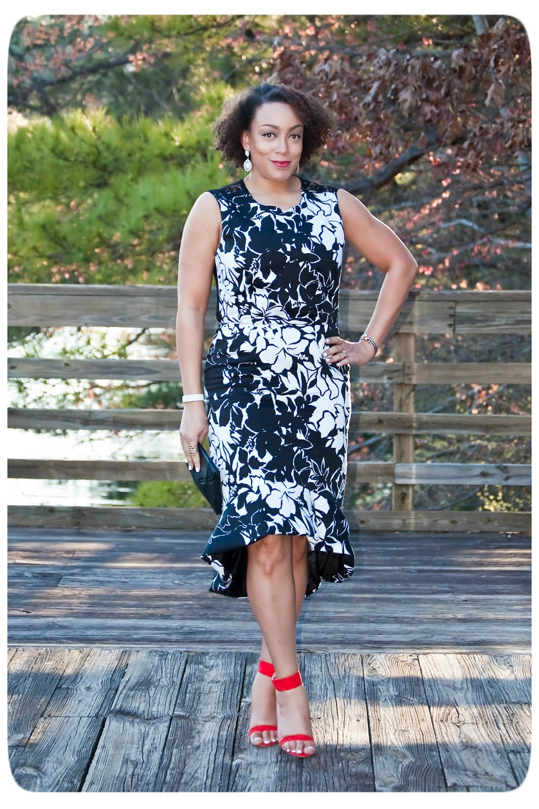 Floral & Lace Panel Dress Inpired by Clements Ribeiro made with Mood Fabrics - Erica B.'s - DIY Style!