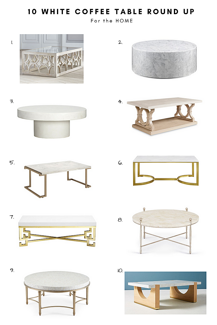 White Coffee Table Round Up