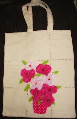 sacola ecológica com bordados
