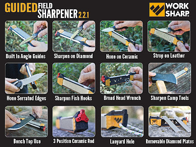 Worksharp Guided Field Sharpener uses