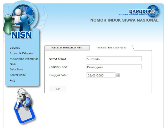 Mengisi Form Mencari NISN