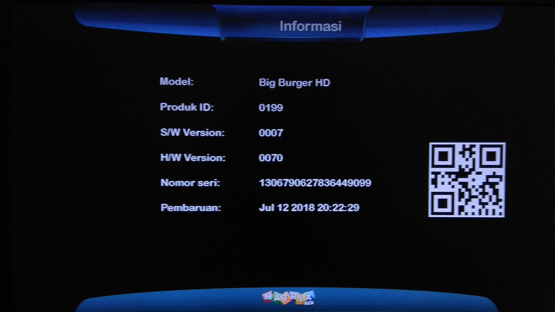 Firmware Matrix Burger S2 K5S 8MB Update Software Terbaru