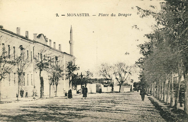 The building of the Military Administration near the river Dragor and Isac Mosque in the background.