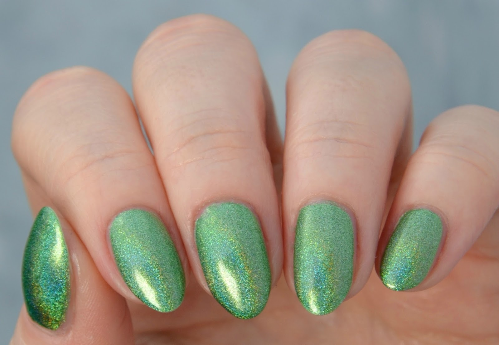 green holo swatch