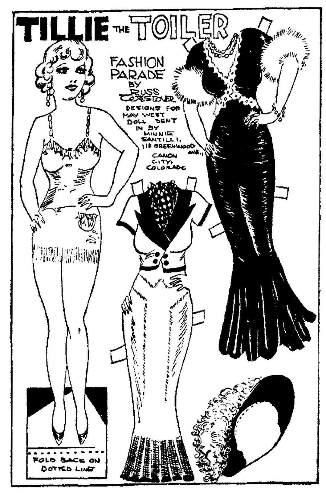 Mostly Paper Dolls Too!: 1934 Tillie the Toiler Comic