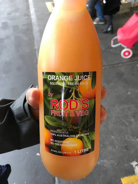 Melbourne, South Melbourne Market, orange juice