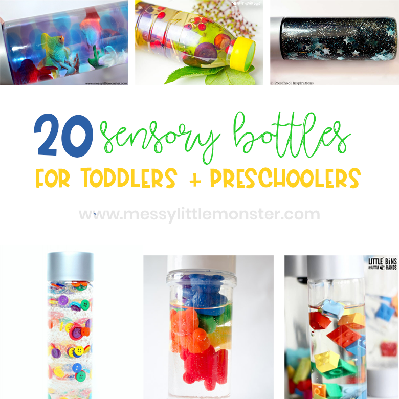 sensory bottles for babies, toddlers and preschoolers