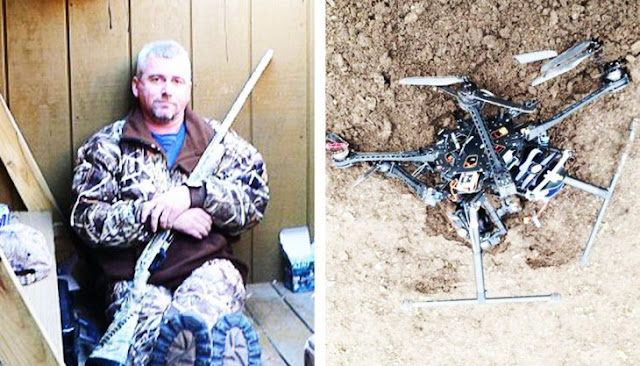 Papá alfa derrumbó un drone que espiaba a su hija