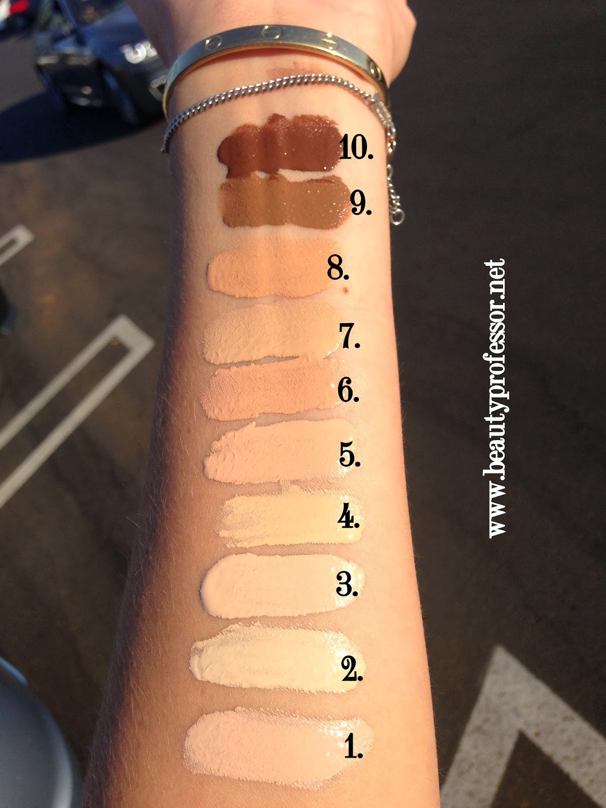 Swatches Of Colourpop Martian Helium And Utopia Tie Dye: Beauty Professor: By Terry Densiliss Foundation...Swatches