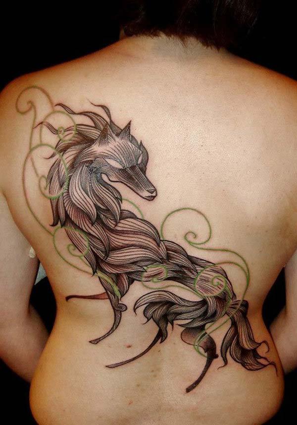 wolf symbol tattoo