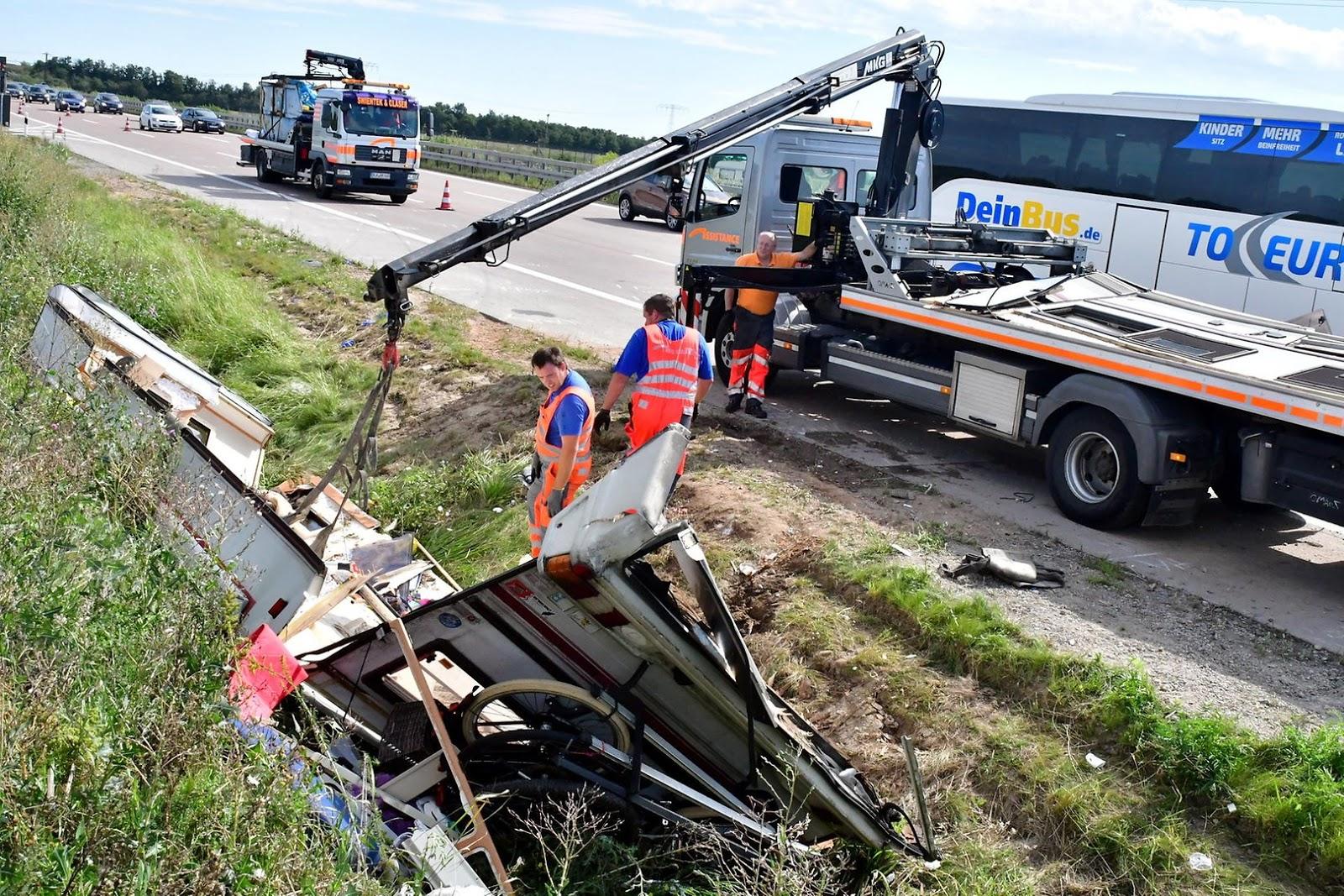 Verkehrsunfall A9 Gestern