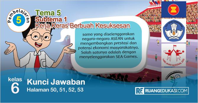 Kunci Jawaban Buku Tematik Tema 5 Kelas 6 Halaman 50, 51, 52, 53 Kurikulum 2013