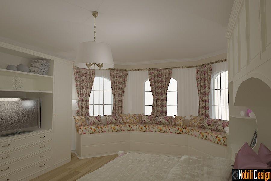 Design interior mobila living clasic Tulcea - Design interior dormitor casa clasica