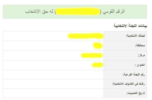 رابط الاستعلام عن مقر اللجان الانتخابية 2018