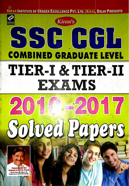 Kiran SSC CGL Exam Question Bank 2010-2017 Download PDF Free