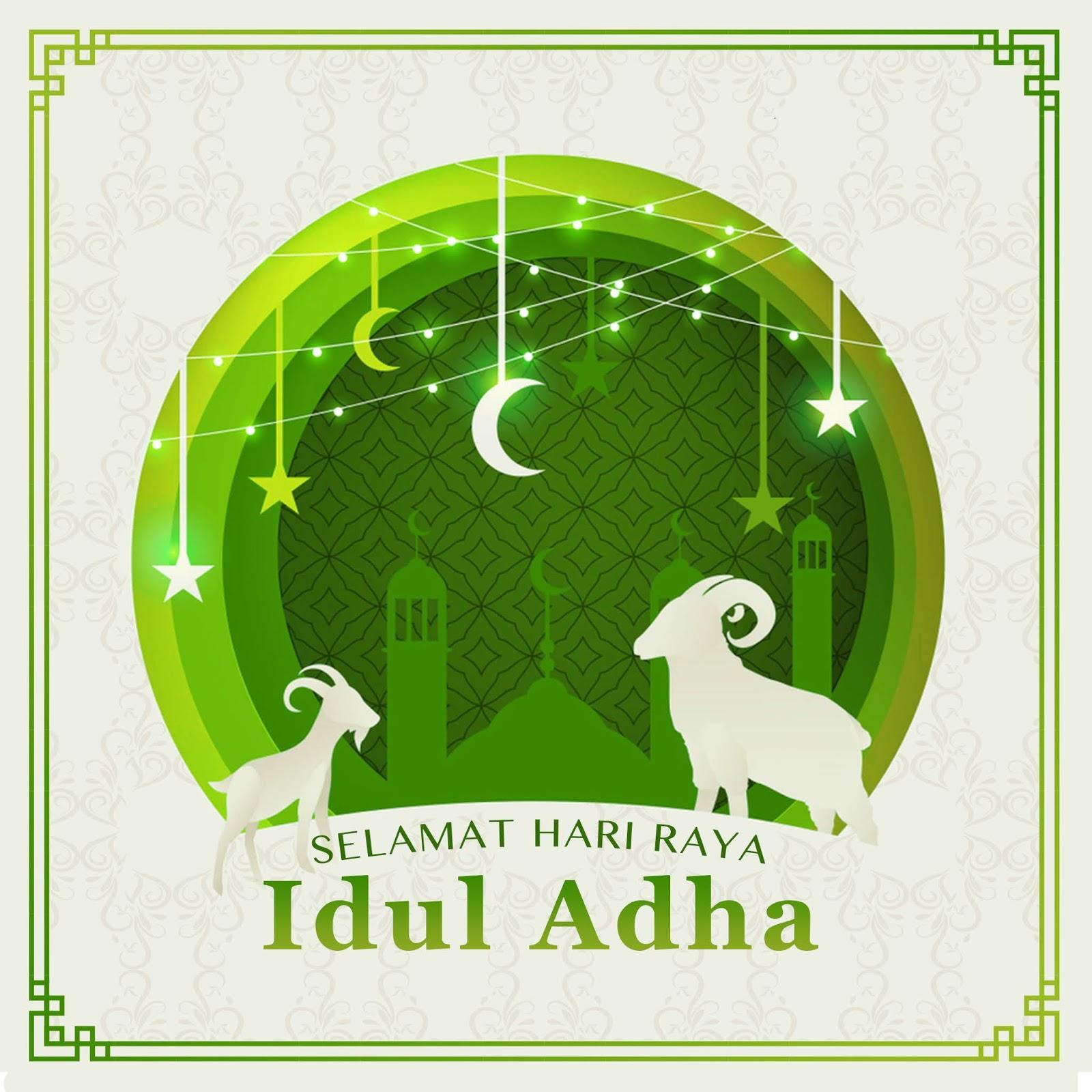 Gambar ucapan selamat hari raya idul adha terbaru 2020 1441 Hijriah bisa diedit, untuk kirim whatsapp instagram facebook gratis