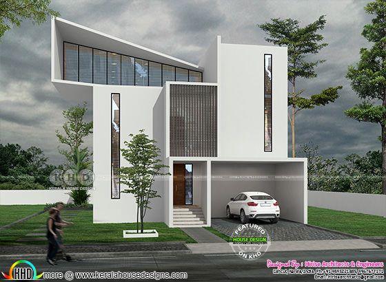 Minimalist ultra modern house rendering
