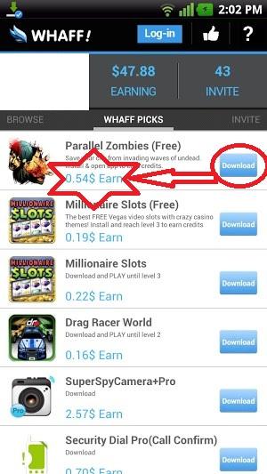 تطبيق 1 Whaff ربح المال