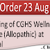 CGHS : Opening of a Central Govt. Health Scheme, Wellness Centre (allopathic) at Imphal