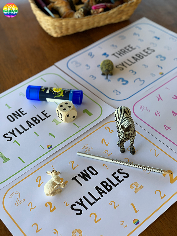 FREE Syllable Sorting Mats | you clever monkey