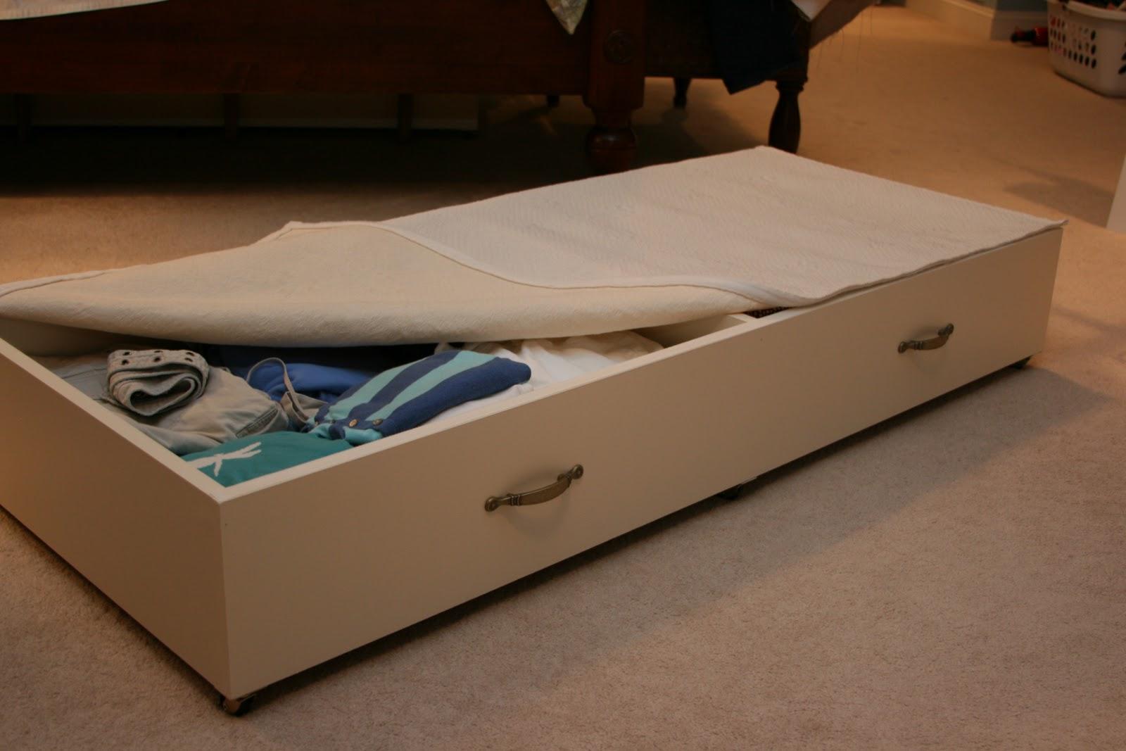 Crafty under bed storage drawers - Bed with storage underneath ...