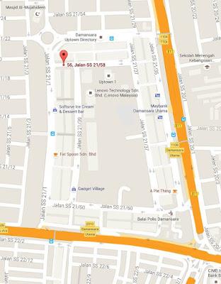 Location map Asam Pedas Premier Damansara Utama