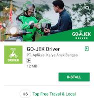 Aplikasi Gojek Driver di Google Play
