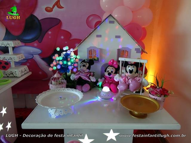 Decoração de aniversário Minnie rosa - Festa infantil
