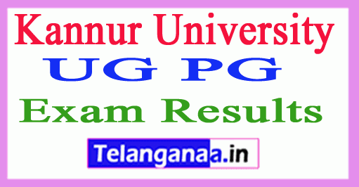 Kannur University UG PG Result