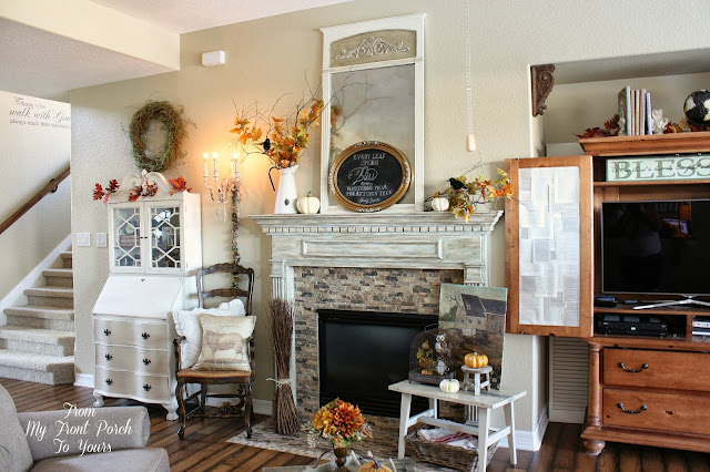 Living Room Fall Decorations