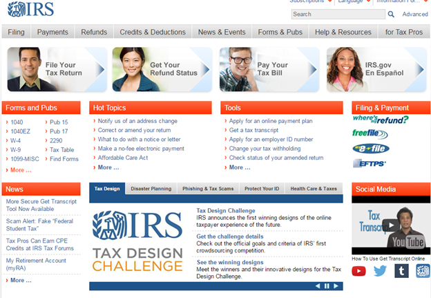 Irs Gets Serious About Its Website Stevens And Sweet Financial