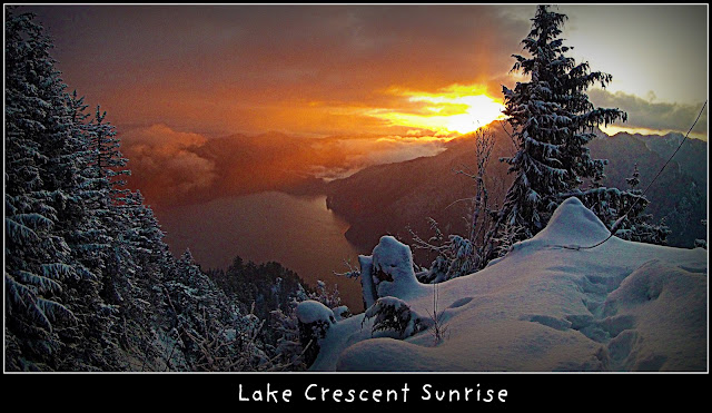 lake crescent sunrise
