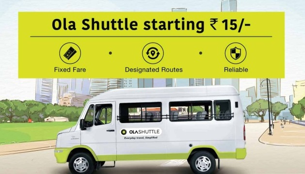 Ola's Shuttle service initiative – New to the Indian market