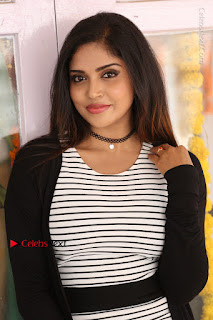 Telugu Actress Karunya Chowdary Stills in Black Dress at Soda Goli Soda Movie Opening  0226.JPG