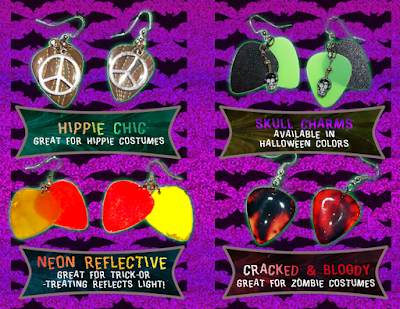 Earrings to go with your Halloween costume!